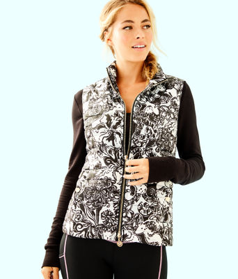 Elyn Puffer Vest, Onyx With A Twist, large