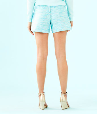 "5"" Ivana Pintuck Short, Amalfi Blue Resort Boucle, large"