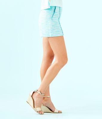 "5"" Ivana Pintuck Short, Amalfi Blue Resort Boucle, large 2"