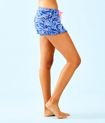"4"" Ruffle Pj Knit Short, Coastal Blue Whispurr, large"