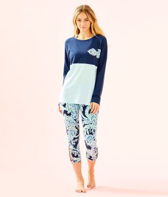 Finn Top, High Tide Navy Scuba Doo Back Xx Lilly Graphic, large
