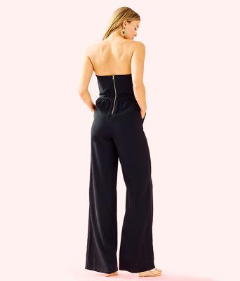 Janelle Embellished Jumpsuit, Onyx, large 1