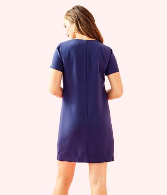 Havyn Embellished Dress, True Navy, large 1