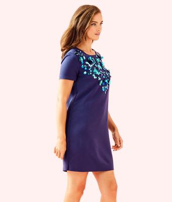 Havyn Embellished Dress, True Navy, large 2