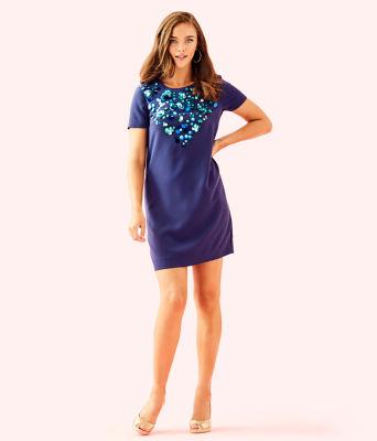 Havyn Embellished Dress, True Navy, large 3
