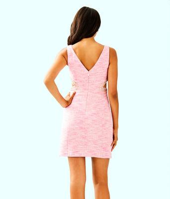 Catie Shift Dress, Pink Tropics Resort Boucle, large 1