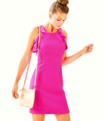Britnee Stretch Shift Dress, Bougainvillea Pink, large