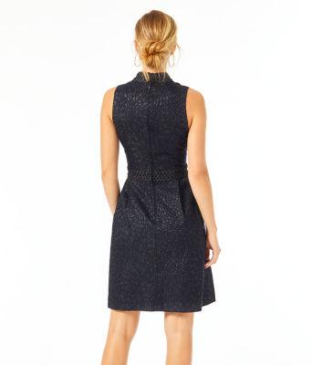 Franci Dress, Onyx Lagoon Jacquard, large 1