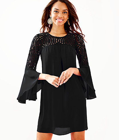 Amenna Dress, Onyx, large 0