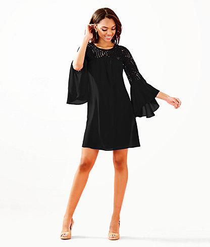 Amenna Dress, Onyx, large 3