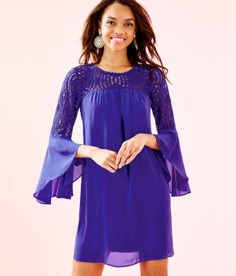 Amenna Dress, Royal Purple, large 0