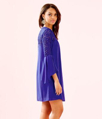 Amenna Dress, Royal Purple, large 2