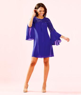 Amenna Dress, Royal Purple, large 3