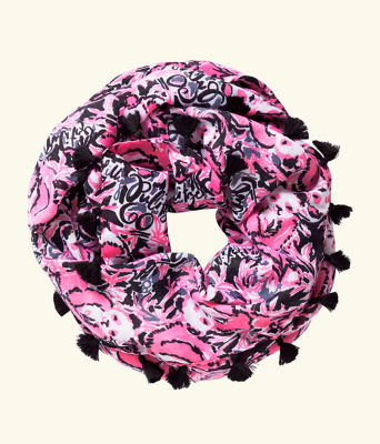 Resort Infinity Loop Scarf, Hibiscus Pink Hangin With My Boo, large