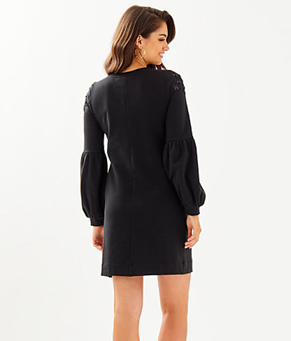 Bartlett Sweatshirt Dress, Onyx, large 1