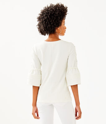 Fatima Embellished Top, Coconut, large