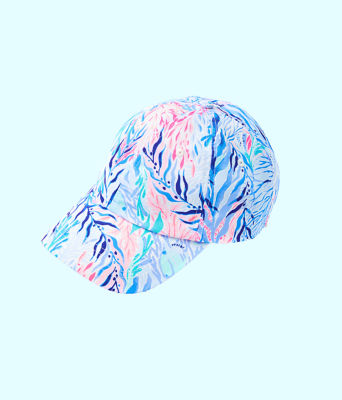 Run Around Hat, Crew Blue Tint Kaleidoscope Coral Accessories Small, large
