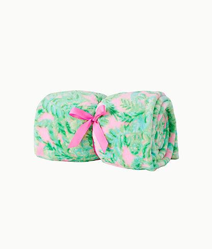 Paradise Fleece Blanket, Mandevilla Baby Pink Sand Paradise, large 0