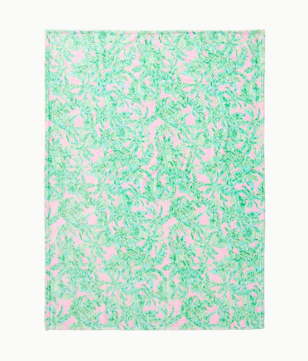 Paradise Fleece Blanket, Mandevilla Baby Pink Sand Paradise, large