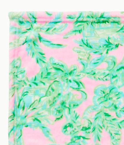 Paradise Fleece Blanket, Mandevilla Baby Pink Sand Paradise, large 2