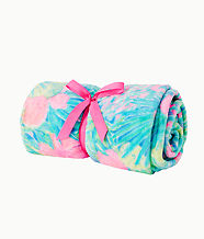Paradise Fleece Blanket, Multi Swizzle In Blanket, large
