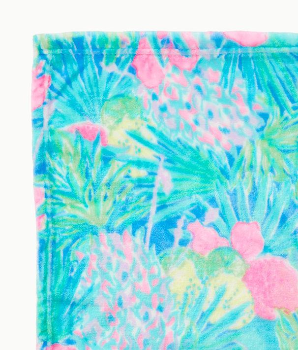 Paradise Fleece Blanket, Multi Swizzle In Blanket, large