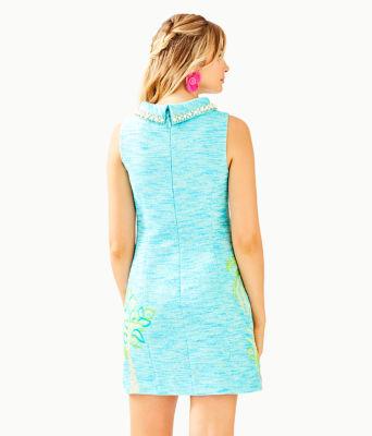 Portia Shift Dress, Amalfi Blue Resort Boucle, large 1