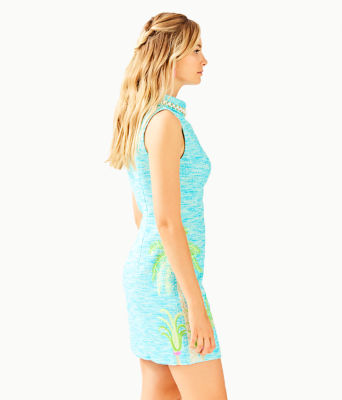 Portia Shift Dress, Amalfi Blue Resort Boucle, large 2