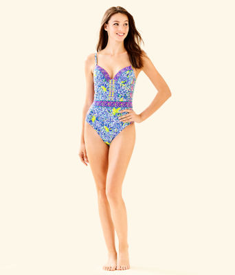 Palma One-Piece Swimsuit, Resort White Zest For Life Swim, large 2
