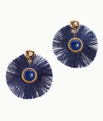 Fan-Tastic Earrings, True Navy, large