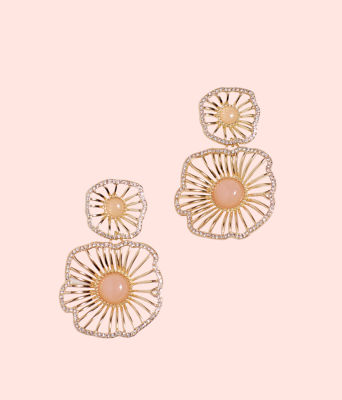 Show Stopper Earrings, Pink Tropics Tint, large