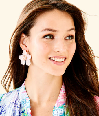 Oversized Orchid Earrings, Pink Tropics Tint, large