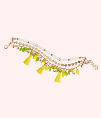 Lemon Grove Clasp Bracelet, Pineapple Juice, large 0