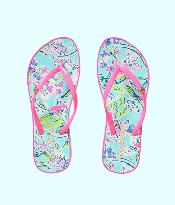 Pool Flip Flop, Bali Blue Sway This Way Shoe, large 0