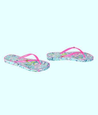 Pool Flip Flop, Bali Blue Sway This Way Shoe, large 1