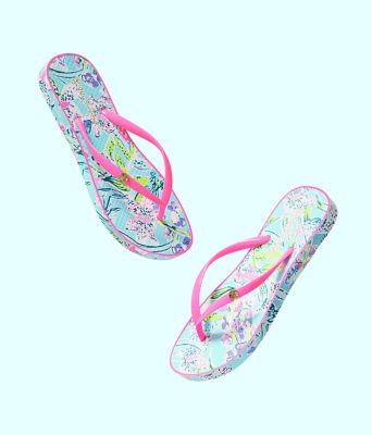 Pool Flip Flop, Bali Blue Sway This Way Shoe, large 2