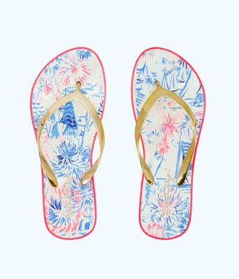 Pool Flip Flop, Crew Blue Tint Sea To Shining Sea Shoe, large
