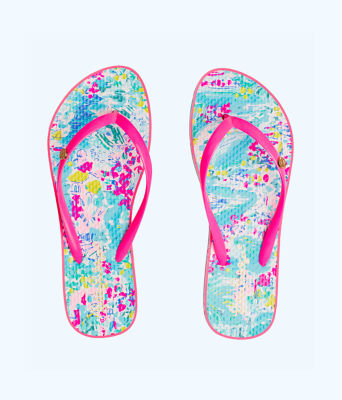 Pool Flip Flop, Multi Postcards From Positano Shoe, large 0