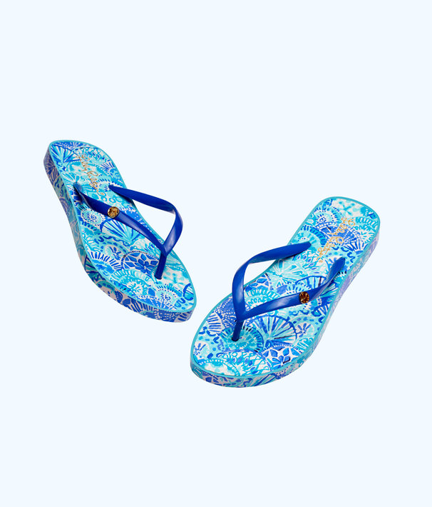 76d8544b3b8dbf Pool Flip Flop, Turquoise Oasis Half Shell Shoe, large ...