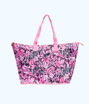 Getaway Packable Tote, Hibiscus Pink Hangin With My Boo, large