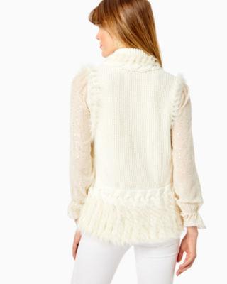 Torini Faux Fur Sweater Vest, Coconut, large 1