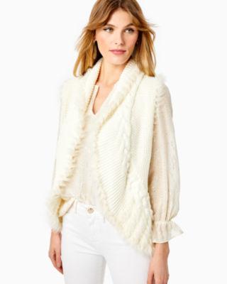 Torini Faux Fur Sweater Vest, Coconut, large 2