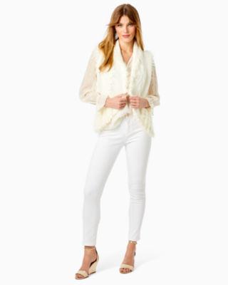 Torini Faux Fur Sweater Vest, Coconut, large 3