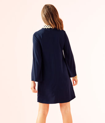 Gracelynn Stretch Tunic Dress, True Navy, large 1