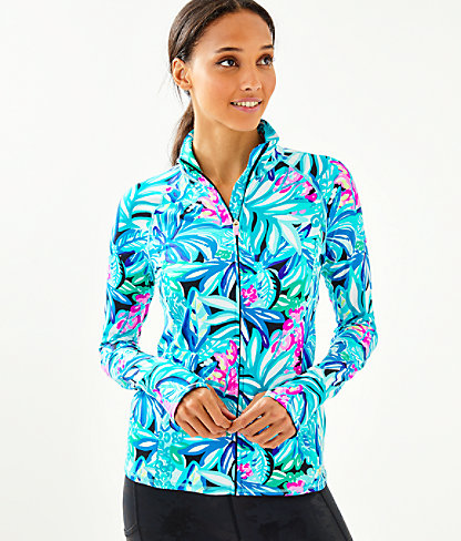 Luxletic Serena Zip-Up, Maldives Green Hype It Up, large 0