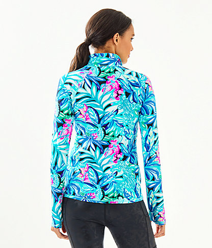 Luxletic Serena Zip-Up, Maldives Green Hype It Up, large 1