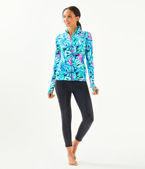 Luxletic Serena Zip-Up, Maldives Green Hype It Up, large