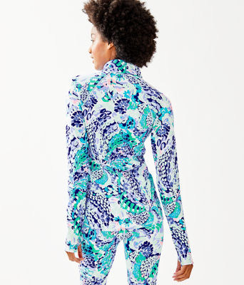 Luxletic Serena Jacket, Turquoise Oasis Wave After Wave, large 1