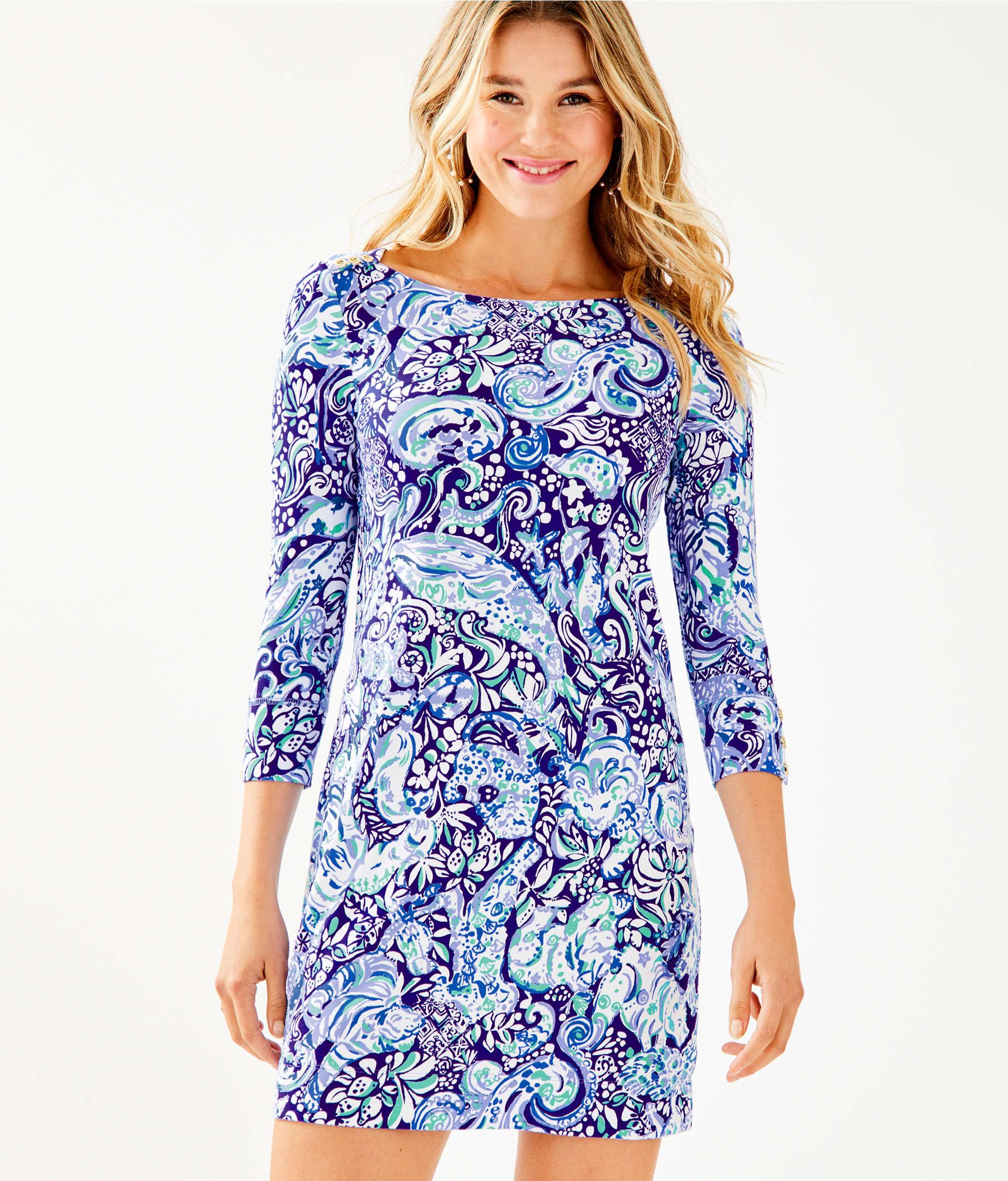 28878b677372d7 ... UPF 50+ Sophie Dress, Royal Purple 60 Animals, large ...