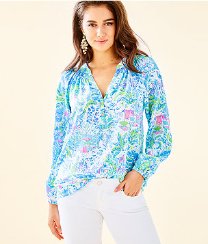 e1d29665bdcdec The Elsa Top: Blouses & Silk Tops | Lilly Pulitzer